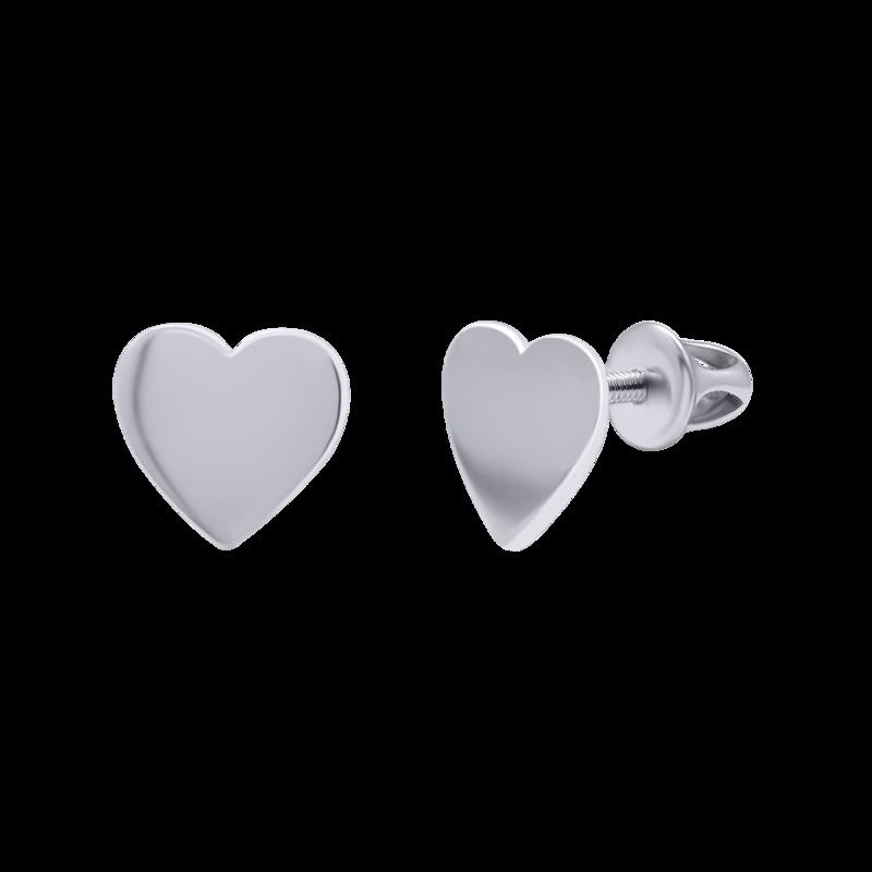 Сережки Серце гладке