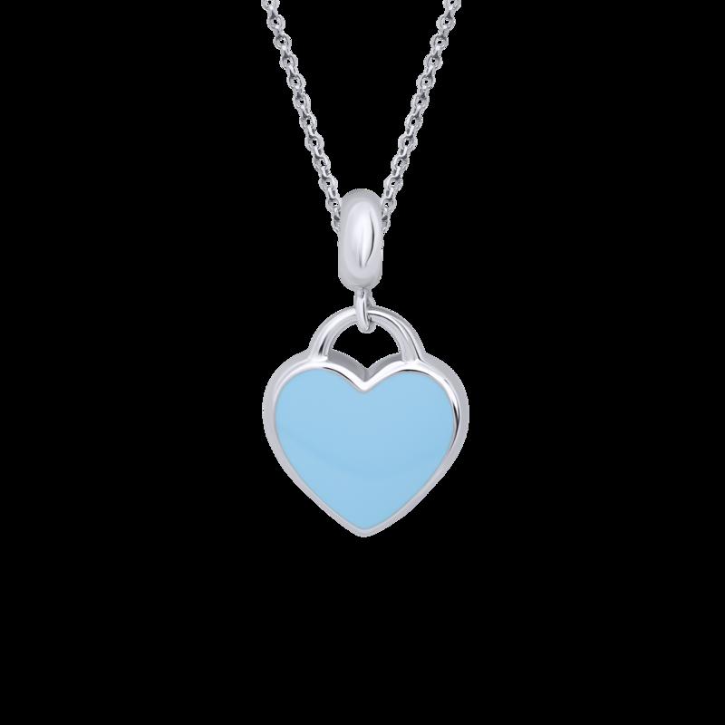 Кулон Серце блакитне